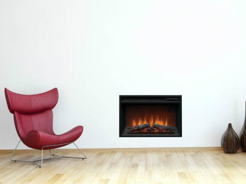 langwerpige inbouwhaard electrisch wandhaard Faber simplex firebox